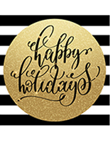 48 x 48 black and gold christmas holiday floor decal