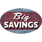 Removable printed vinyl floor SAVINGS decals