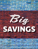 Brick - Big Savings