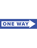 One way arrow floor decal for indoor and outdoor use