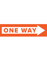 One way arrow floor decal with vibrant stock graphics
