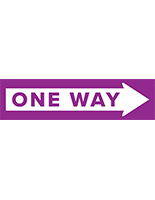 One way arrow floor decal for hardwood flooring and carpeted surfaces