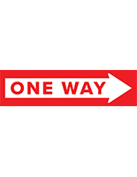 One way arrow floor decal with non-slip vinyl material