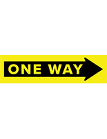24 x 6 one way arrow floor decal with slip-resistant top surface