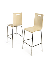 Pub height bentwood chairs with high back