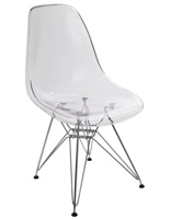 Clear Plastic Eiffel Lounge Chair