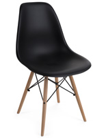 Black Molded Plastic Modern Chair