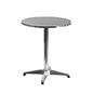Aluminum restaurant cafe table with stainless steel top