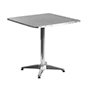 Contemporary aluminum bistro table with stainless steel top