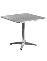 "Bistro aluminum table square with 31.5"" top"