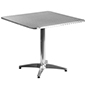 Bistro aluminum table square with stainless steel top