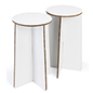 "28.25""h round cardboard party stools set of 2 with double wall corrugated construction"