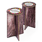 "28.25""h round branded cardboard party stools for parties and trade shows"