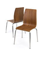 Dining height lunchroom chairs with steel legs