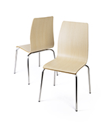 Dining height breakroom chairs with steel legs