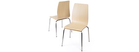 Stackable bentwood chair set