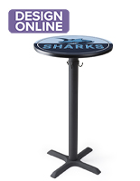 42in tall cIM体育tom printed pub tables in round and square shapes