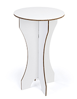 "42.25""h round cardboard bar table with slotted design"