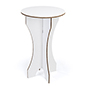 "42.25""h round cardboard bar table with double-wall corrugated construction"