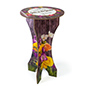 Tall round cocktail height branded cardboard furniture bar table