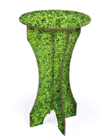 42-inch high matte flat pack corrugated cocktail table