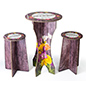 3-Piece tall table & stools branded cardboard bar furniture with innovative construction