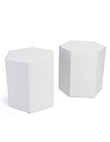 "17""h cardboard hexagon stools set of 2"
