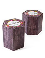 "Economy branded cardboard stools 17""h hexagon with recyclable materials"