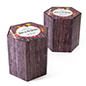 "17""h hexagon economy branded cardboard stools with custom printing"
