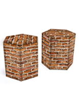 17-inch seat height matte hexagonal corrugated cardboard furniture stool