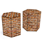 17-inch tall corrugated cardboard furniture stool in matte finish with flat pack design