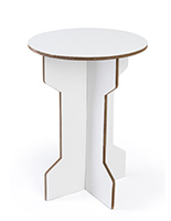 "25.25""h round cardboard party table for events and trade shows"