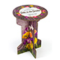 "25.25"" tall round cardboard branded party table"
