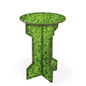 25.5-inch high matte flat pack cardboard pedestal table