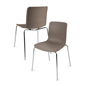 Standard Height Set of 2 Modern Plastic Chairs