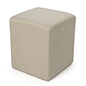 Soft seating cube in natural color twill fabric