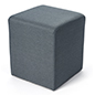 Square ottoman seating cube for events or lounge spaces