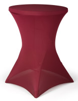 Table with Stretch Cover, Burgundy