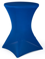 Table with Stretch Cover, Blue Fabric