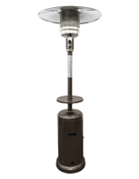 33.5w x 87h freestanding outdoor heat lamp with bronze color finish
