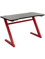 Ergonomic gaming z desk with heavy duty steel frame