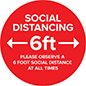 Social distance vinyl decal with weather-resistant material
