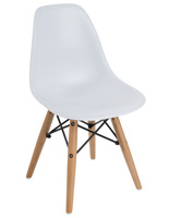 White Iconic Eames-Style Child Size Chair
