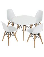 White Child Size Iconic Seating Set