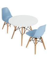 Child Size Contemporary Seating Set with Eiffel Bases
