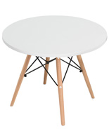 Child Size Iconic Modern Table with Wood Base