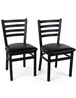 Steel side chair are sold in a set of two