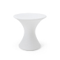 23.75-inch tall white plastic LED cocktail table