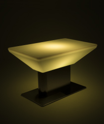 light up modern LED glow coffee table