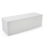 15.75-inch tall white LED lounge bench